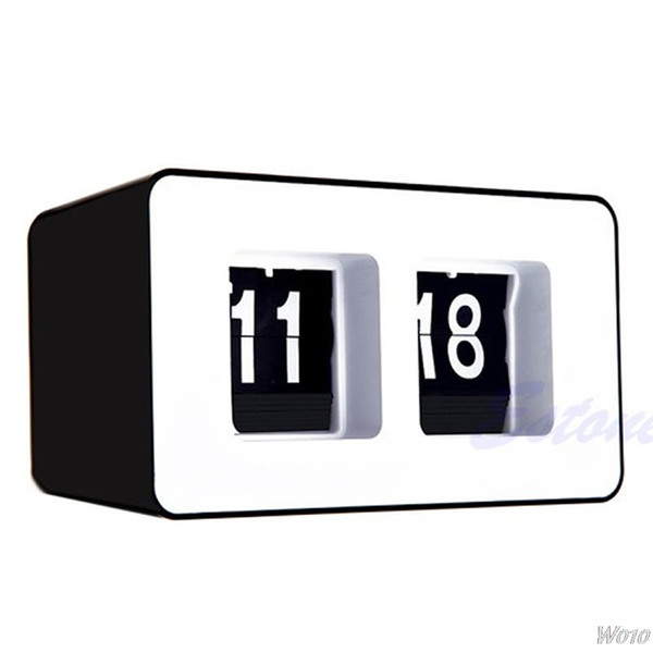 Retro Flip Classic Stylish Desk Auto Modern Wall Clock