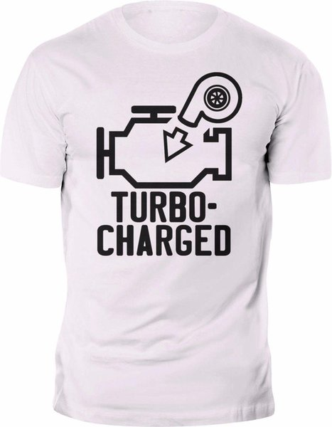New T-shirt Funny Turbo charged Tee 100% Cotton Custom print Mens 2018 fashion Brand T Shirt O-Neck 100%cotton