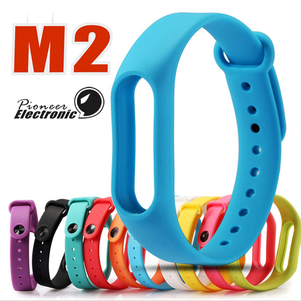 10 Color Silicone Wearable Mi band 2 Replacement Watch Strap For Xiaomi Mi band 2 Wrist Bands Smart Bracelet Strap belt in Smart Band