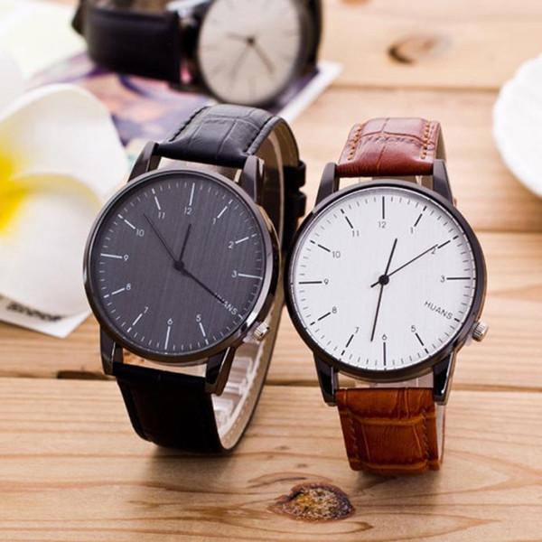 quartz wrist watche Fashion Male Pattern watch women round glass dropshipping Watch Leather Band Analog Quartz MAY0820