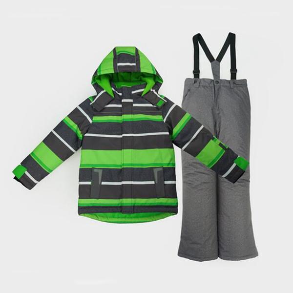 Honeyking Toddler Boy Children Kids Snowsuit Outdoor Ski Suit Set Winter Warm Snowboard Waterproof Windproof Hooded Jacket Pants