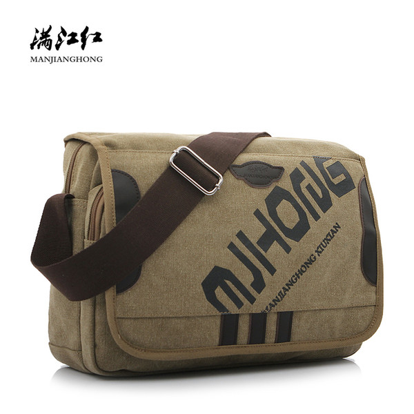 Fashion Letter Printing Canvas Men Messenger Bag Casual Crossbody For Men Satchel Male Shoulder Bag Handbag Bolsa Feminina Sac