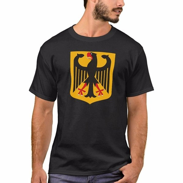 Print Your Own T Shirt O-Neck Graphic Short Sleeve Men's Basic T-Shirt Germany Coat Of Arms T-Shirt T Shirts For Men