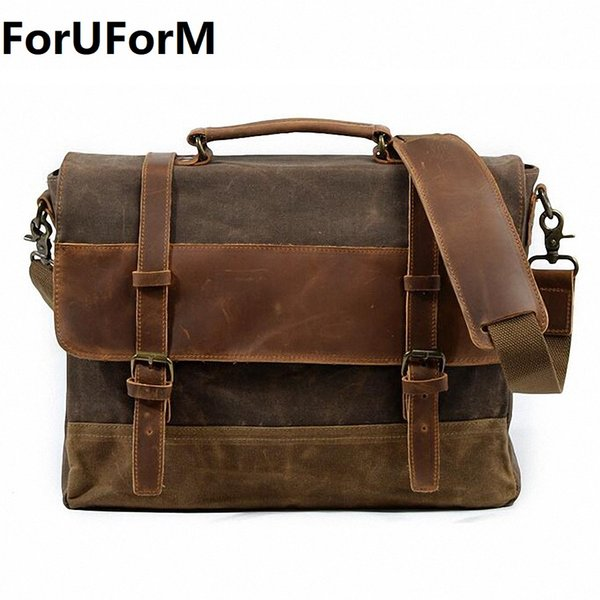 Waterproof Canvas Men Bag Man Crossbody Shoulder Handbag Men Messenger Bags Male 16 Inch Laptop Briefcase Men Travel Bag LI-1967
