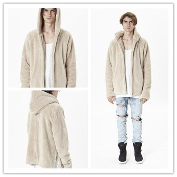 Two Jaket God Langarm Mantel Winter Of Fog Großhandel Side Warm Herbst Lamm Slit Fear Lazy Cardigan Sherpa Herren Von Kapuzenjacke Wollmantel mnv0wyO8N