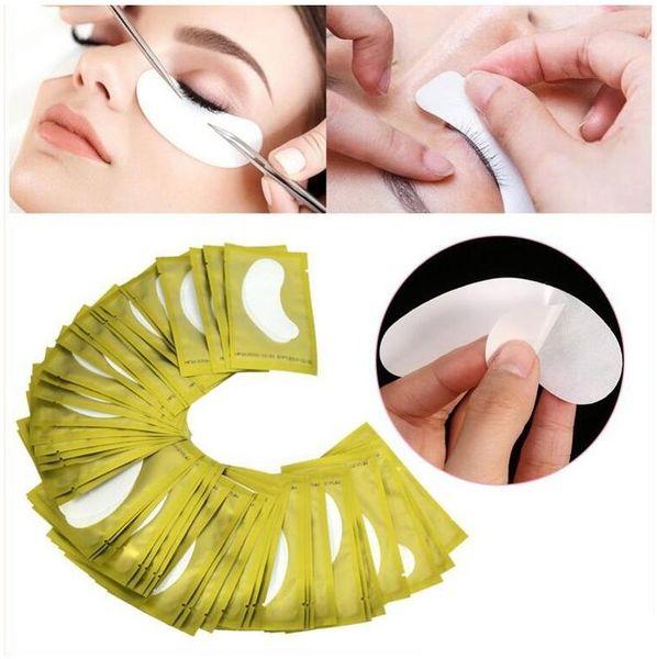 6 renkler Kirpik Ipek Göz Pedleri Altında Göz Yama Göz Maskesi Yamalar Kirpik Uzatma Yüzey Kirpikler Kağıt Lsolation Ped Makyaj Araçları