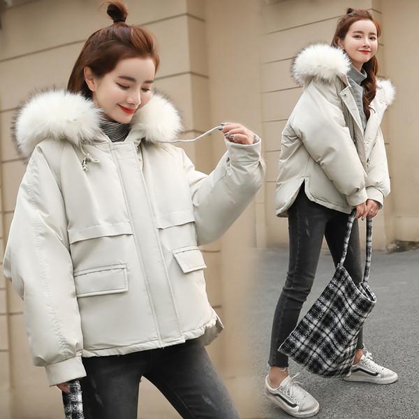 Warm Hooded Fur Collar Cotton Long Parka Plus Size Women Winter Coat Jacket 2018 Clothing For Mujer Feminine De Inverno Casaco S18101503