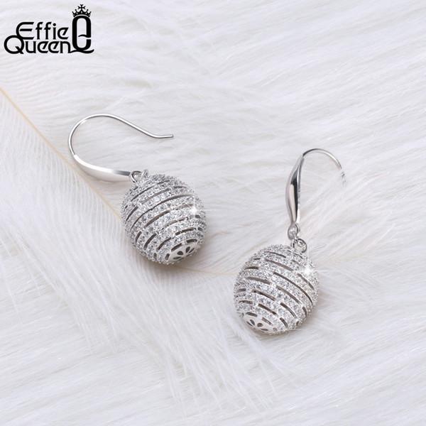 wholesale 100% Real S925 Silver Ball Dangle Earrings for Women 925 Sterling Silver Drop Earring Luxury Statement Jewelry BE59