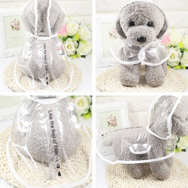 Pet Dog Cat Transparent Raincoat XL XXL Water Ressistant Jacket Hooded Rainwear Healthy for Small Dogs Medium Dogs
