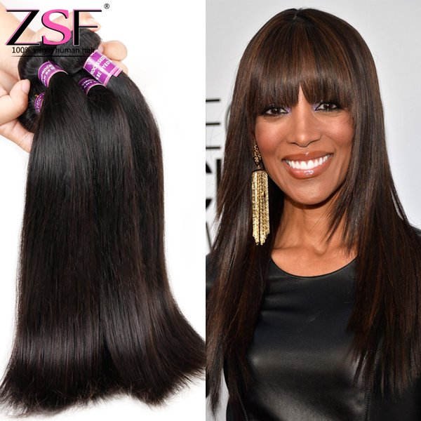 ZSF 8A Grade High Quality 100% Chinese Virgin Human Hair 4 Bundles Human Hair Straight Hair Extensions