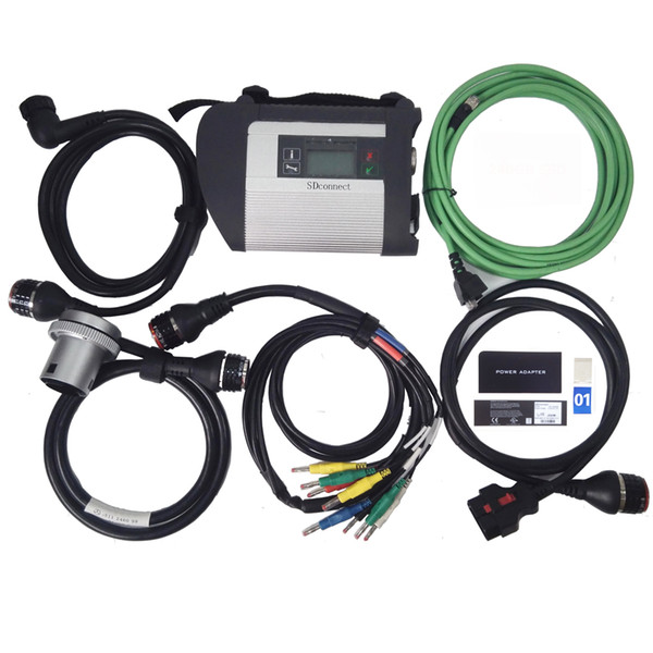 top popular MB Star C4 with 5 Cables SDconnect Diagnosis Multiplexer Support for Benz Cars and Trucks in stock 2020