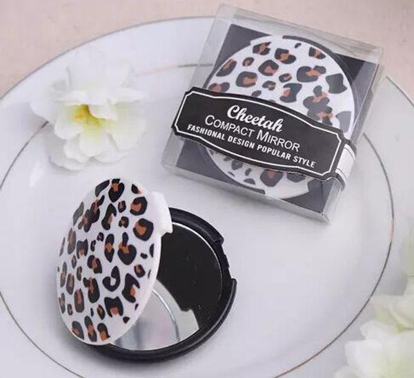 Новое Прибытие Свадебные Подарки Леопард Круглое Зеркало Компактный Бесплатная Доставка
