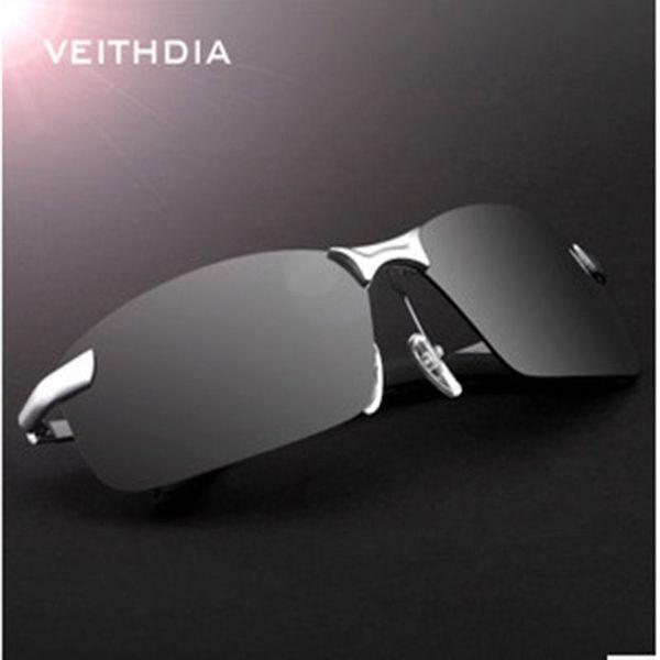 Rectangle Rimless Men Sun glasses Polarized UV400 Hot Fashion Sunglasses Men Brand Designer Classic Male Eyewear Glass