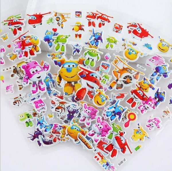 More design 3D Cartoon stickers 7*17cm party Decorative book Stickers paper game Children gift toys free shipping