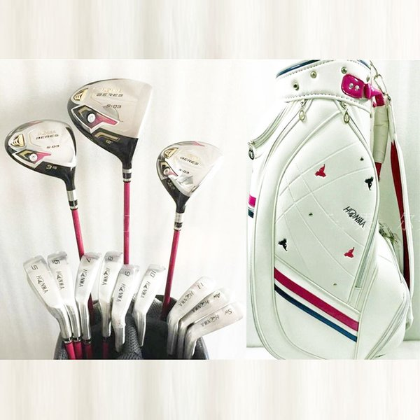 New womens Golf clubs S-03 golf complete set of clubs driver+fairway wood +bag graphite shaft and headcover Free shipping