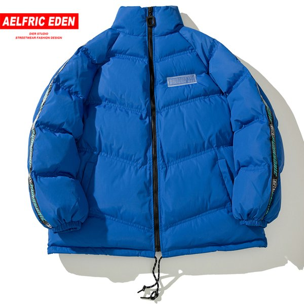 Aelfric Eden 2018 Invierno Hombres Mujeres Engrosamiento Streetwear Abrigos Chaquetas Abrigos Abrigo Hip Hop Cazadora Casual Parkas Wa23