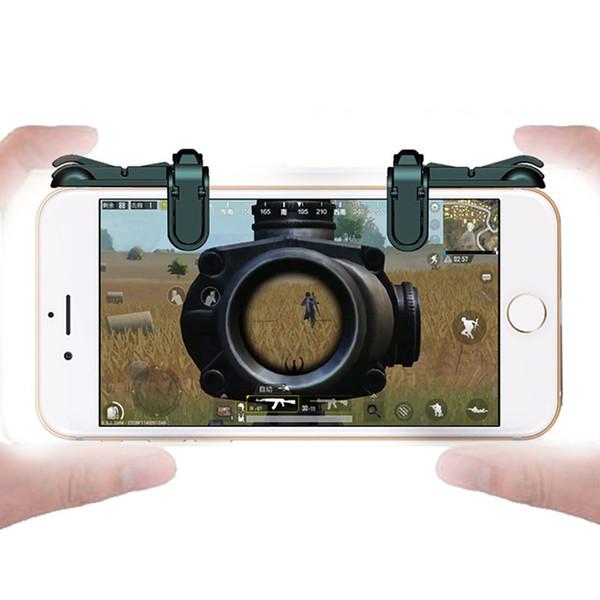 2 Stücke Handy Spiel Feuer Taste Ziel Schlüssel Smartphone Handy Gaming Trigger L1R1 Shooter Controller für PUBG