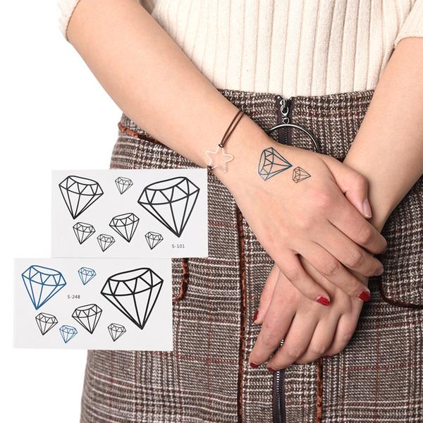 Diamond heart tattoo Stickers makeup fashion Waterproof make up maquiagem Temporary Tattoo For Man Woman hot sale