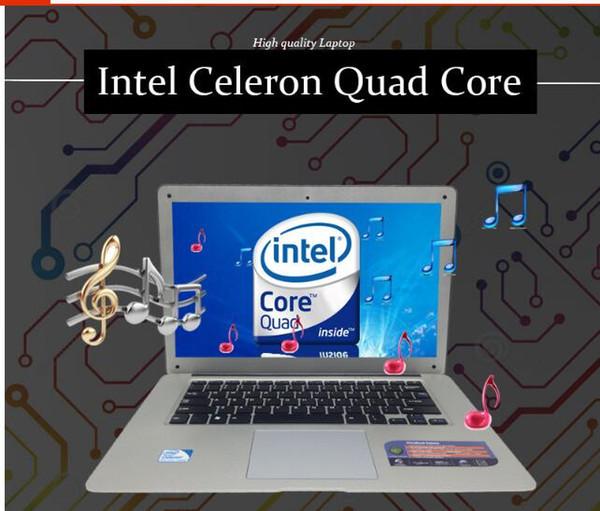 Online intel celeron cpu dört çekirdekli cpu işlemci dizüstü bilgisayar satmak 14 inç led ekran 500 gb hdd ücretsiz pencere os