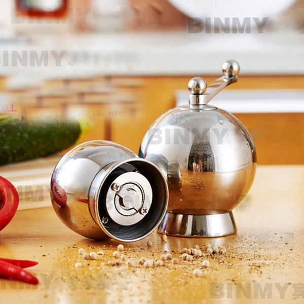 304 stainless steel pepper grinder kitchen manual pepper Mills seasoning grinding bottle mill Y18110204
