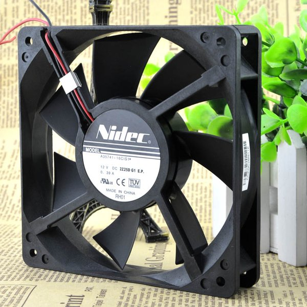 For original genuine NIDEC 12 cm 12025 fan A35741-16CIS1 12V 0.39A double ball