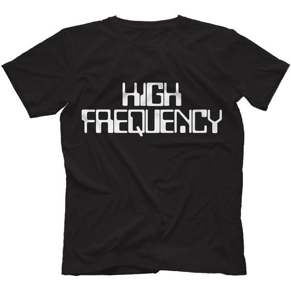High Frequency T-Shirt 100% Cotton Analog Synthesizer Low Filter Lpf Hpf Retro