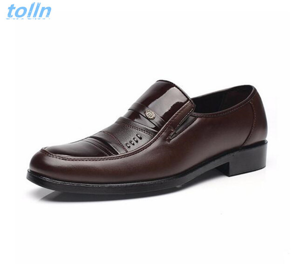 2017 men's leather shoes mens casual shoes high quality pu male party zapatillas hombre fashion Black male Oxford