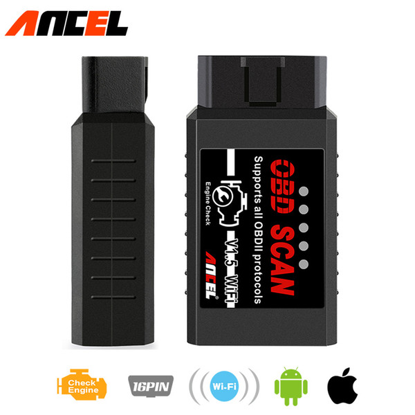 obd2 elm327 obd 1.5 Ancel elm 327 wifi scanner wi-fi for iphone android ios Auto Wireless Code reader diagnostic tool adaptor