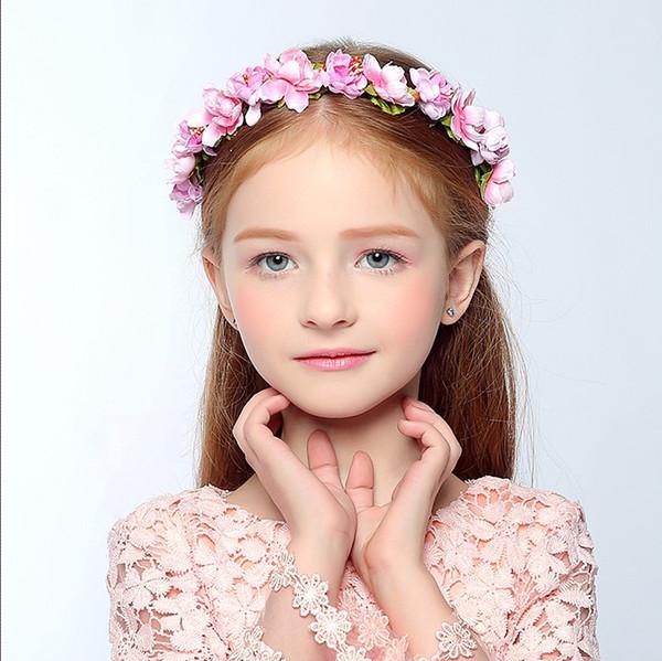 Accesorios para el cabello para las mujeres Tiaras Bohemia novia coronas de pelo de la flor Hairband tocado nupcial de la boda cabeza de la muchacha Princesa Headpieces