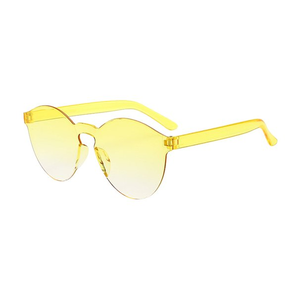 2018 Summer Women Rimless Sunglasses Transparent Shades Sun Glasses Female Cool Candy Color UV400 Eyewear in sixteen colour Hot