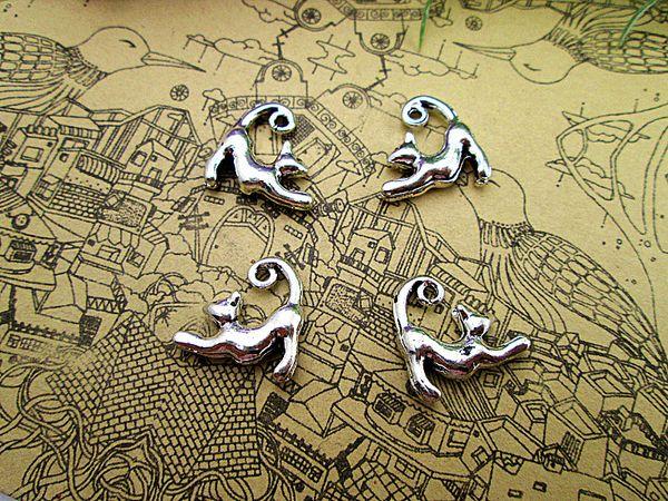 36pcs-- Charms Antique Tibetan silver Simply Adorable Charms pendants ,DIY Supplies 17x14mm