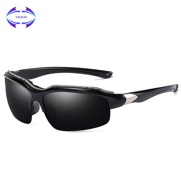 09a57d03a6e03 Vcka 2018 new polarizada óculos de sol hd visão dos homens marcas de design  das mulheres