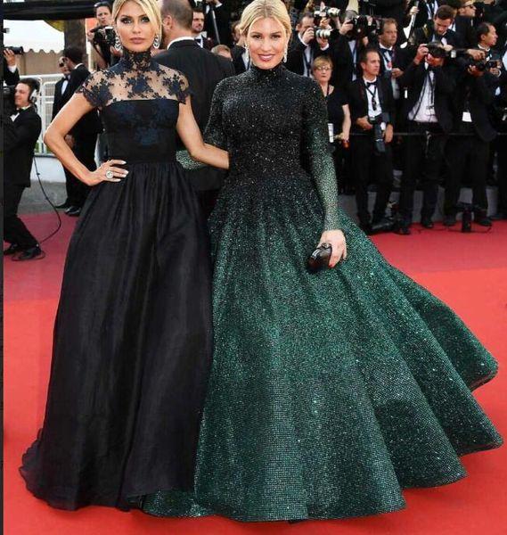 Evening dress Yousef aijasmi Long dress High Collar Sequins Beaded Ball gown Hunter Zuhair murad Kim kardashian