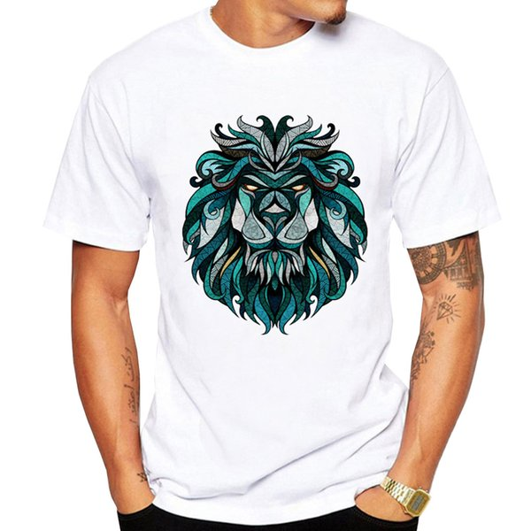 New Fashion Men/women 3d T-shirt Funny Print Colorful Hair Lion King Summer Cool T Shirt Street Wear Tops Tees