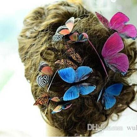 92 Styles Women Flower Brooches Christmas Brooch Pins 3D Butterfly Decorations Cloth Simulation Butterfly Pins Brooch Butterfly Pins 50 pcs