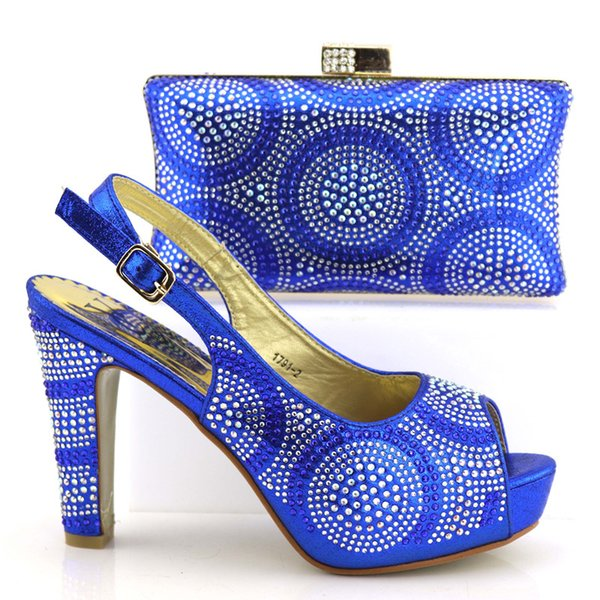 wedding italian design shoes and bag matching set party shoes and bag to match women high heel 11cm Shoes And Bag Set