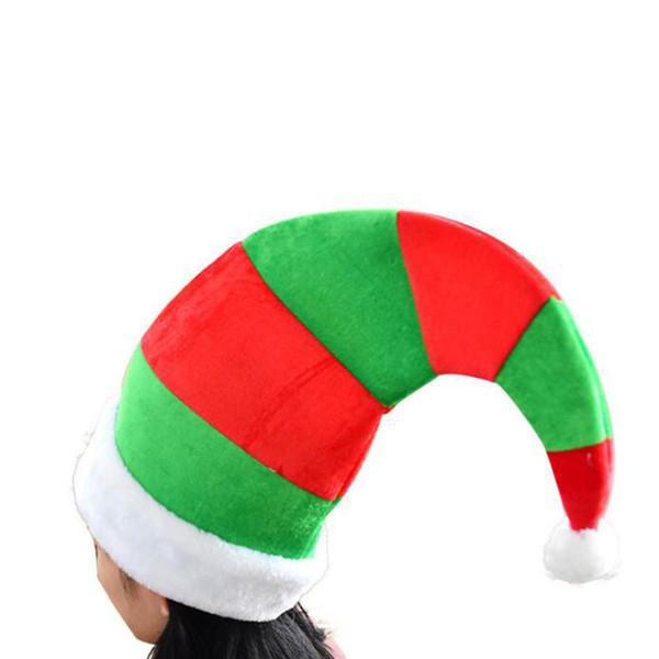 Striped Christmas Elf Hüte Frohe Weihnachten Caps Hut für Erwachsene und Kinder Weihnachten Dekoration Neujahr Geschenke QW8663