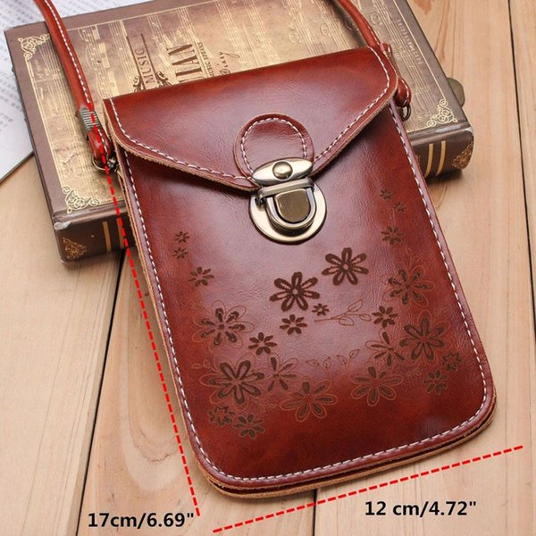 New Women Vintage Wallet Purse Leather Coin Cell Phone Mobile Mini Cross-body Shoulder Bag Shopping Bag