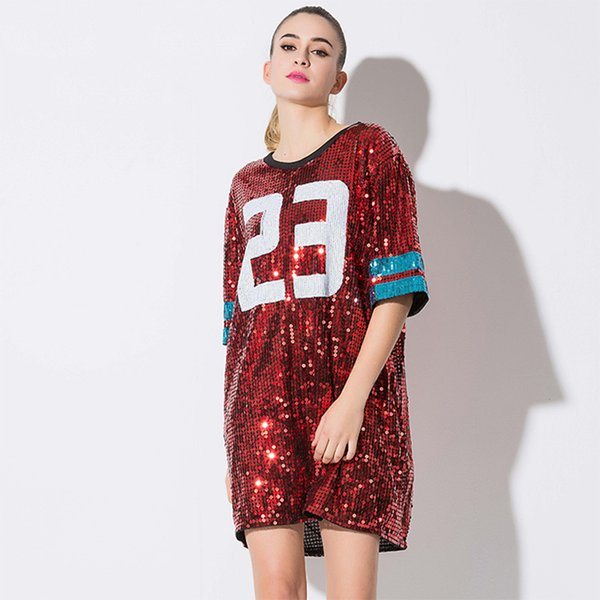Woman Club Dresses 2018 Sequin T Shirt Dress Plus Size Loose Tee Shirts  Glitter Tops Christmas Dress T Shirt Logos Trendy T Shirts From Heatrading,  ...