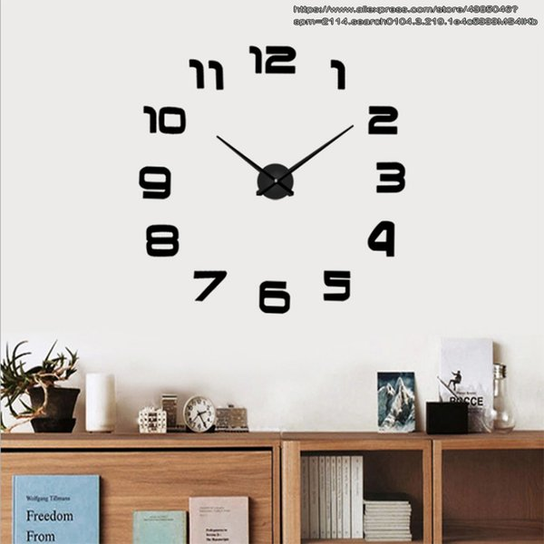 New Metal Modern 3D Digital DIY Wall Clock Acrylic EVR Metal Mirror Home  Decor Super 130cm X 130cm Factory Cheap Clocks Cheap Clocks For Sale From