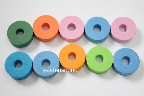 top popular 10PCS Drum Kit Cymbal Felt Pads Percussion Accessories Kit Pad Protection Effect 2021