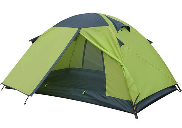 2 Person Outdoor Camping Tents Double Layer Anti-Rain Anti-Wind Waterproof Fiberglass Light Weight