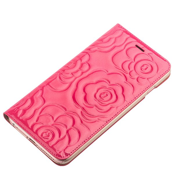 C65 1039 nice women leather ca e for iphone6 plu flip cover for iphone6 ro e pattern with card pocket