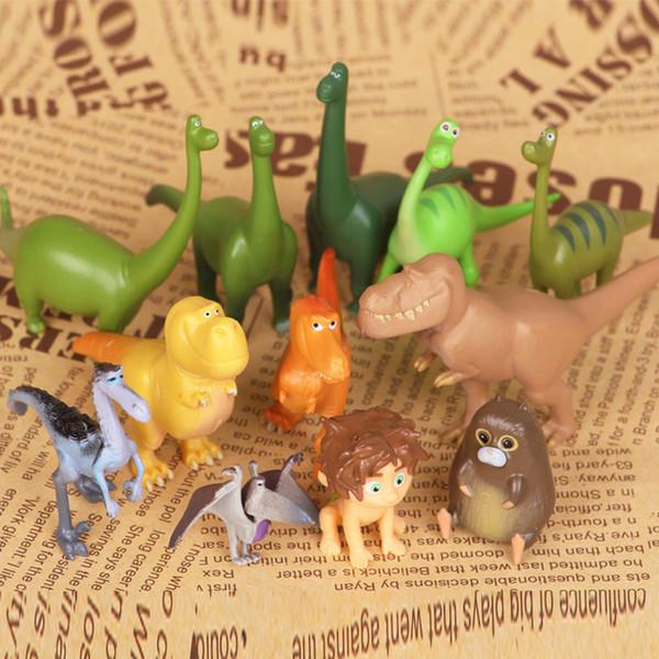 Gentilezza Dinosauri animali bambola Action Figure Toy 12 pz modello carino BAMBOLA REGALO PER BAMBINI regalo di compleanno Torta decorazione famiglia Ornamento
