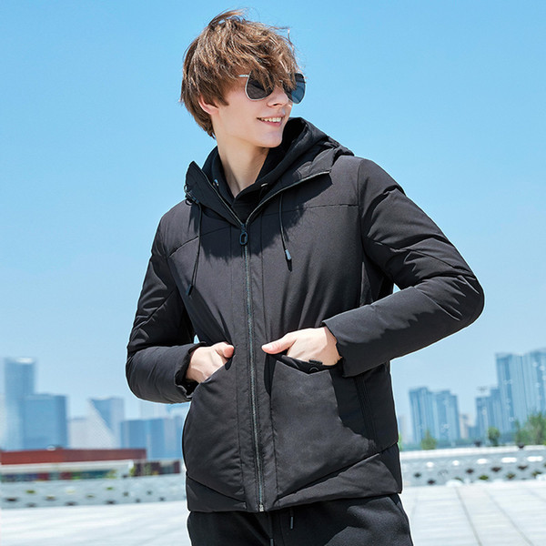 Pioneer Camp new arrival jacket men winter brand clothing thick warm winter coat male top quality black men parka AMF801390