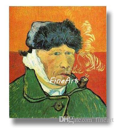 hand-painted van gogh self portrait painting wall art modern abstract oil painting wall hanging living room home décor unique gift Kungfu Ar