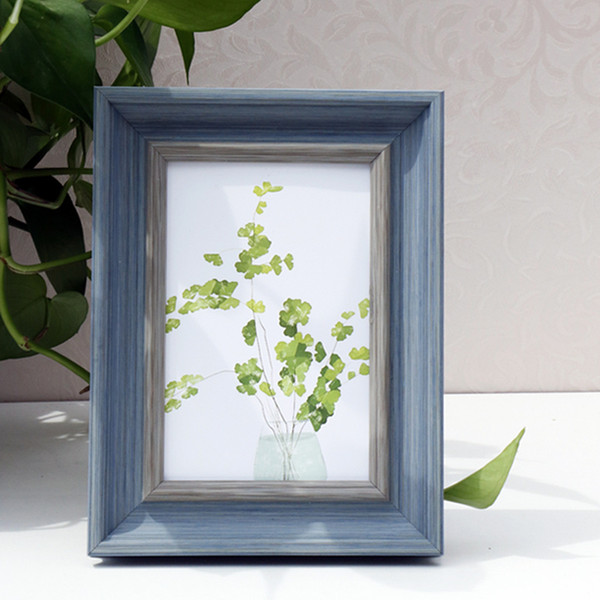 Multi-sizes Rectangle Picture Frame for Home Decor Photo Display on Table Art Decoration Wedding Gift 4 Colors Photo Frames 1 Piece Foto