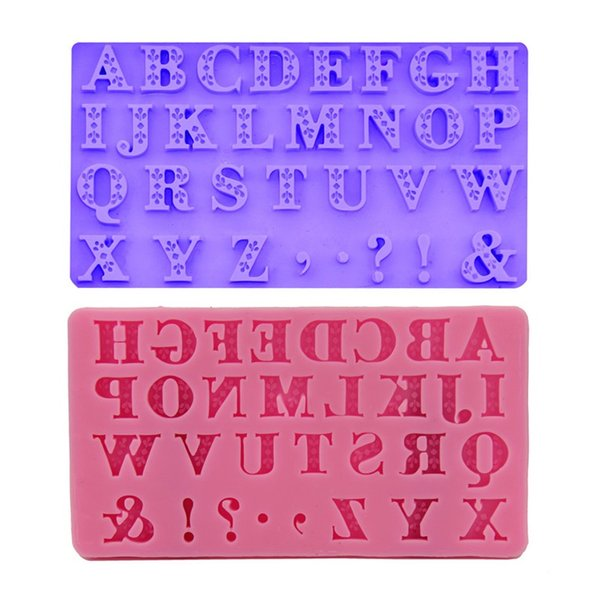 3d Letter Diy.2019 Diy Mold Sugar Tool 26 English Capital 3d Letter Liquid State Silicone Baking Mould Cake Decorate Pink Purple Non Toxic 5 8yq V From Hehong1966