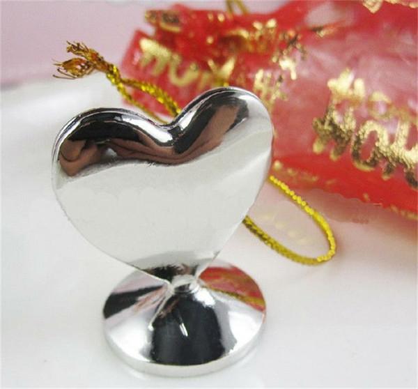 Forma sólida en forma de corazón Portatarjetas de la boda Favor de la decoración del regalo Regalo Diseño creativo Mini Asiento de la abrazadera Suministros de banquete de alto grado 2dl YY