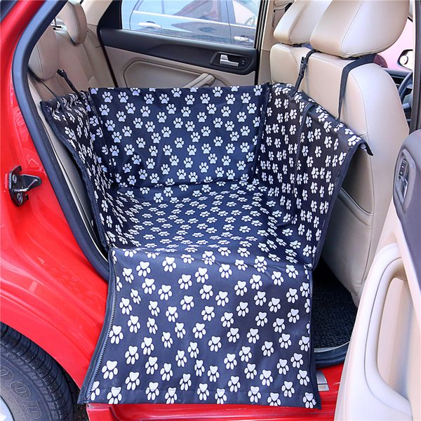 Carriers Waterproof Carriers Paw CloudPattern Pet Dog Cat Car Rear Back Portable Pet Dog Mat Hammock Cushion Car Seat Cover Protector